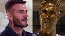 VIDEO: Trolean a David Beckham con una estatua y su reacción se vuelve viral en internet