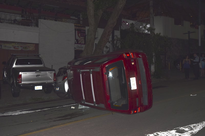 Accidente en la Zona Rosa