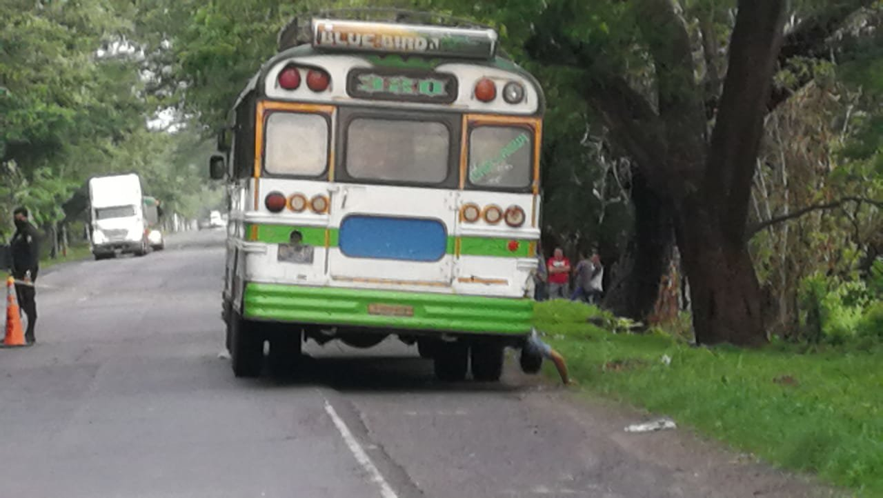 Zona del ataque armado en un bus.