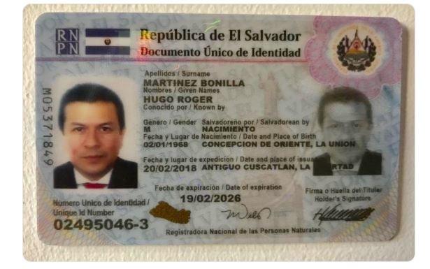 DUI Hugo Martínez