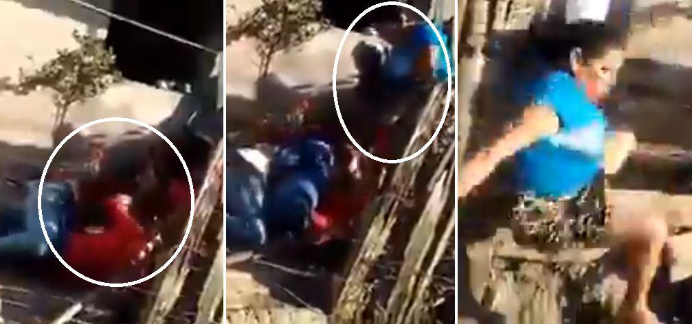 VIDEO: Pelea de dos mujeres afuera de una casa se vuelve viral en las redes salvadoreñas